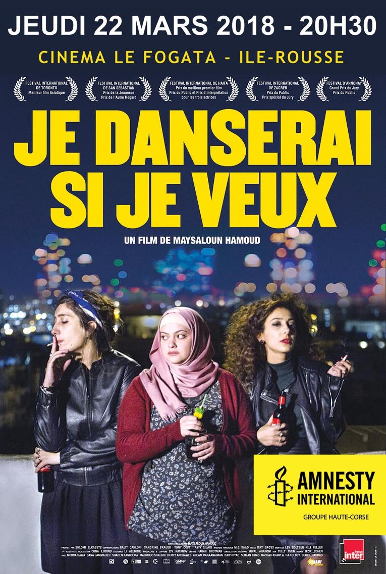 """Festival des droits humains : Le film """"Je danserai si je veux"""" à l'affiche le 22 mars à Lisula"""