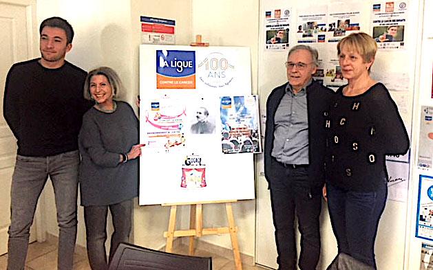 Les  13 et 14 mars, Ajaccio fête les 100 ans de la ligue contre le Cancer