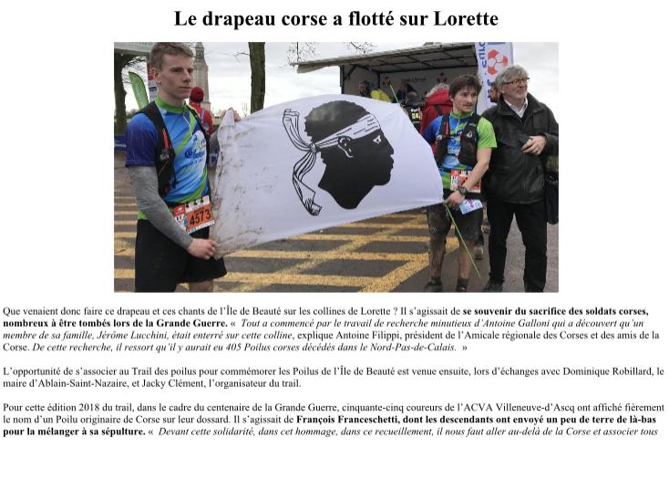 Notre-Dame-de-Lorette : Le trail qui a rendu hommage aux Poilus corses…