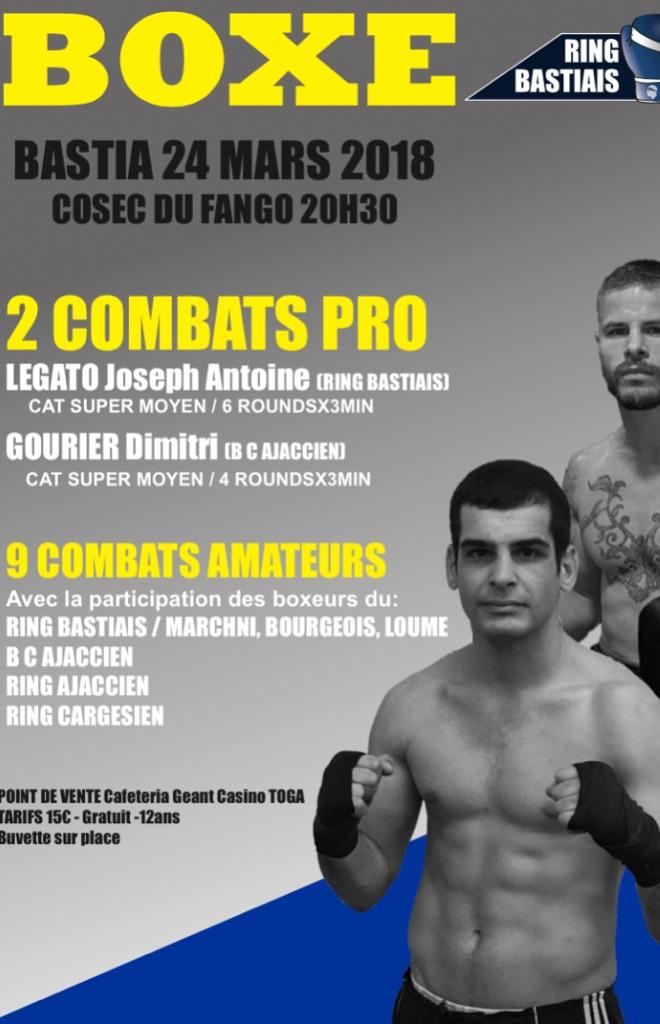 Boxe : Une belle affiche pour le gala du Ring Bastia ce samedi 24 mars.