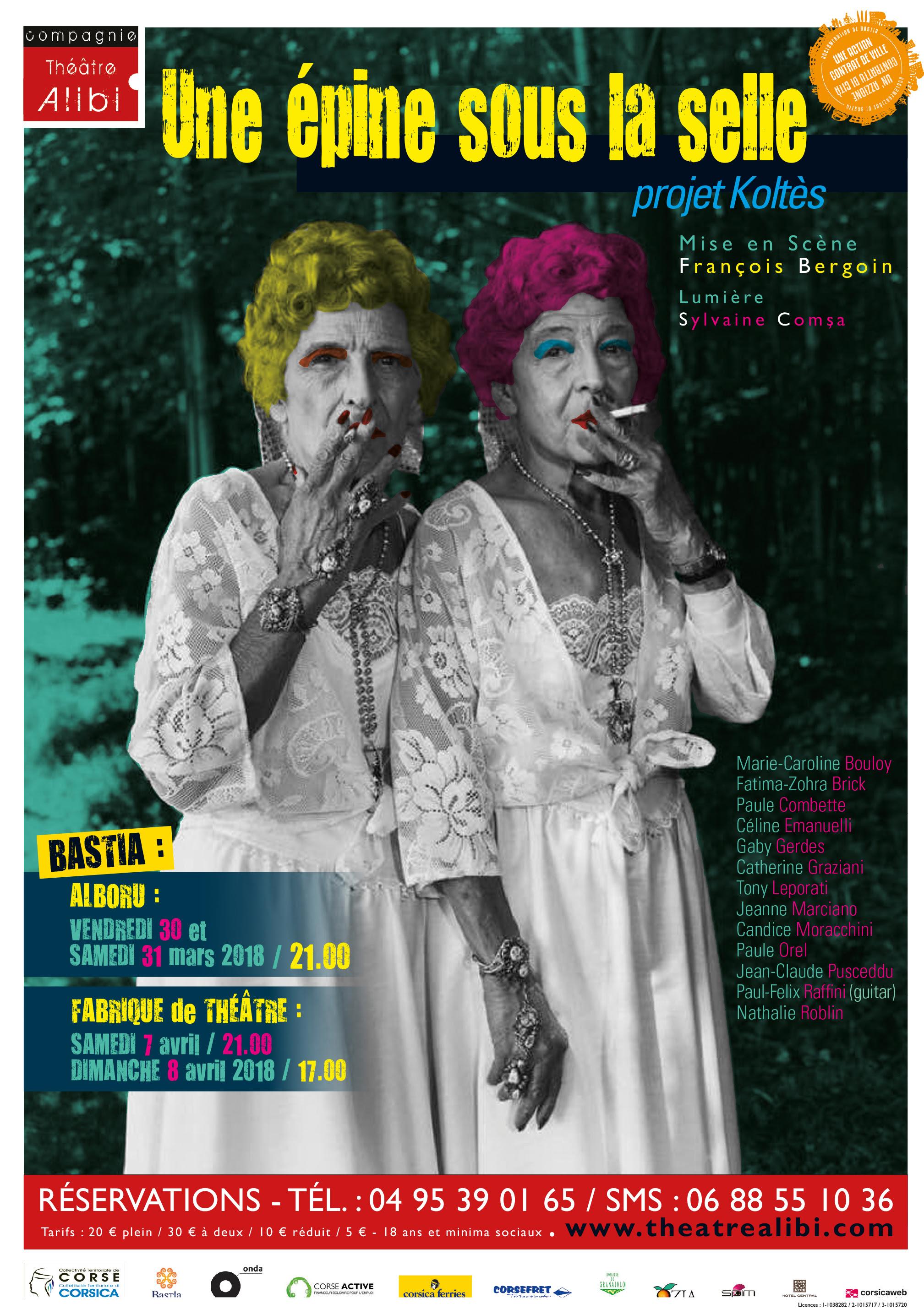 Théâtre :  « Une épine sous la selle » en 4 représentations !