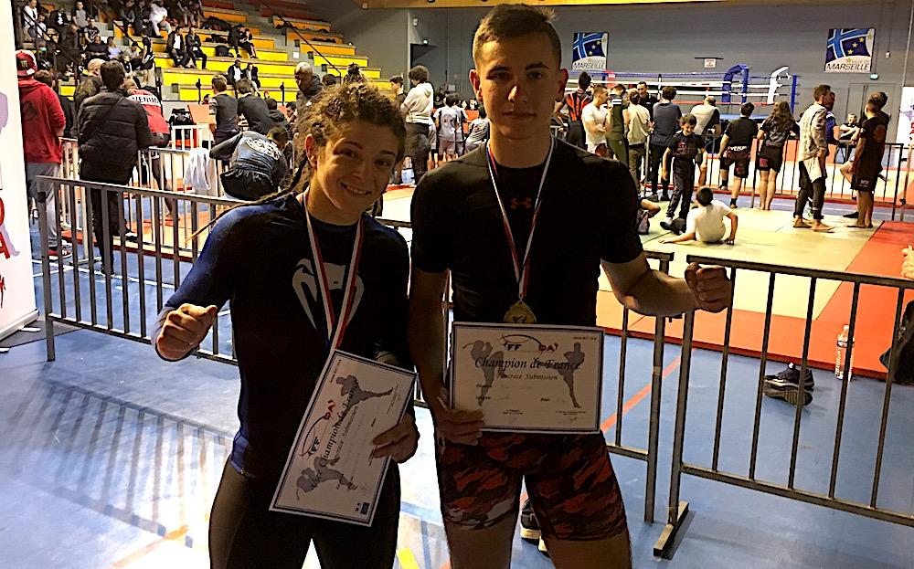 Les champions de France  virginie Fernandez et Hugo Boigeol