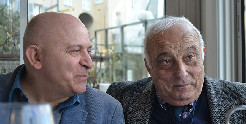 Orlando Forioso et René Viale pendant le Festival du Cinéma Italien de Bastia
