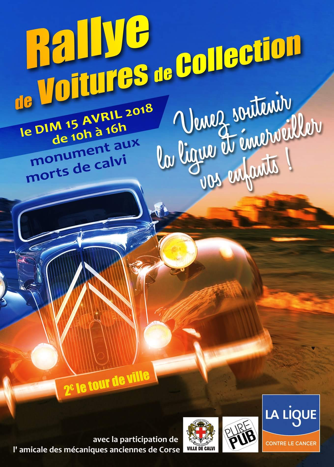 Rallye de voitures de collection le 15 avril à Calvi
