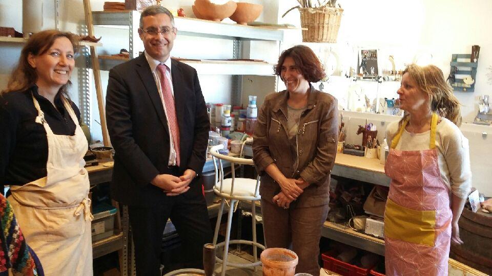 Le sous-préfet de Calvi à la rencontre d'artisans de Sant Antoninu pour les journées des métiers d'art