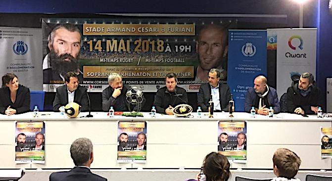 Organisateurs et partenaires ont présenté mercredi la rencontre football/rugby du 14 mai