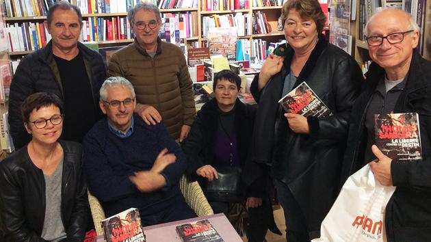 Bruno Jaffré avec Per a pace à la librairie La Marge à Ajaccio