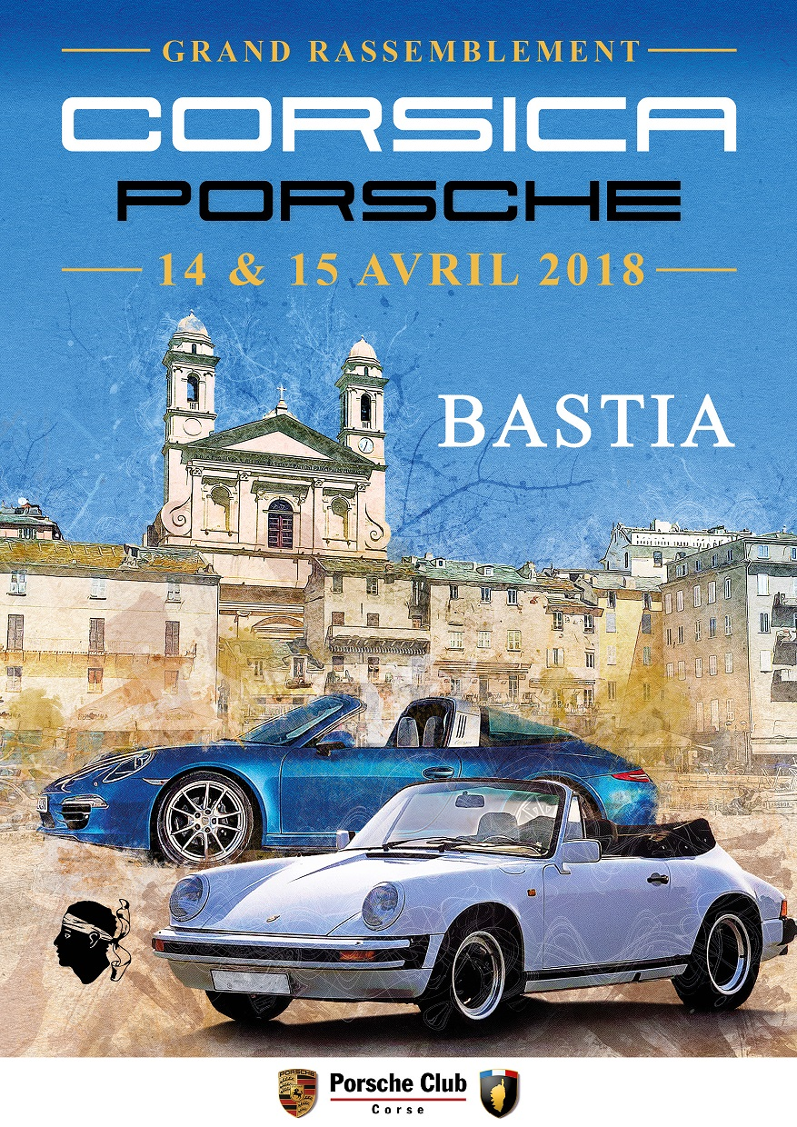 Automobile : Parade Porsche ce week-end à Bastia