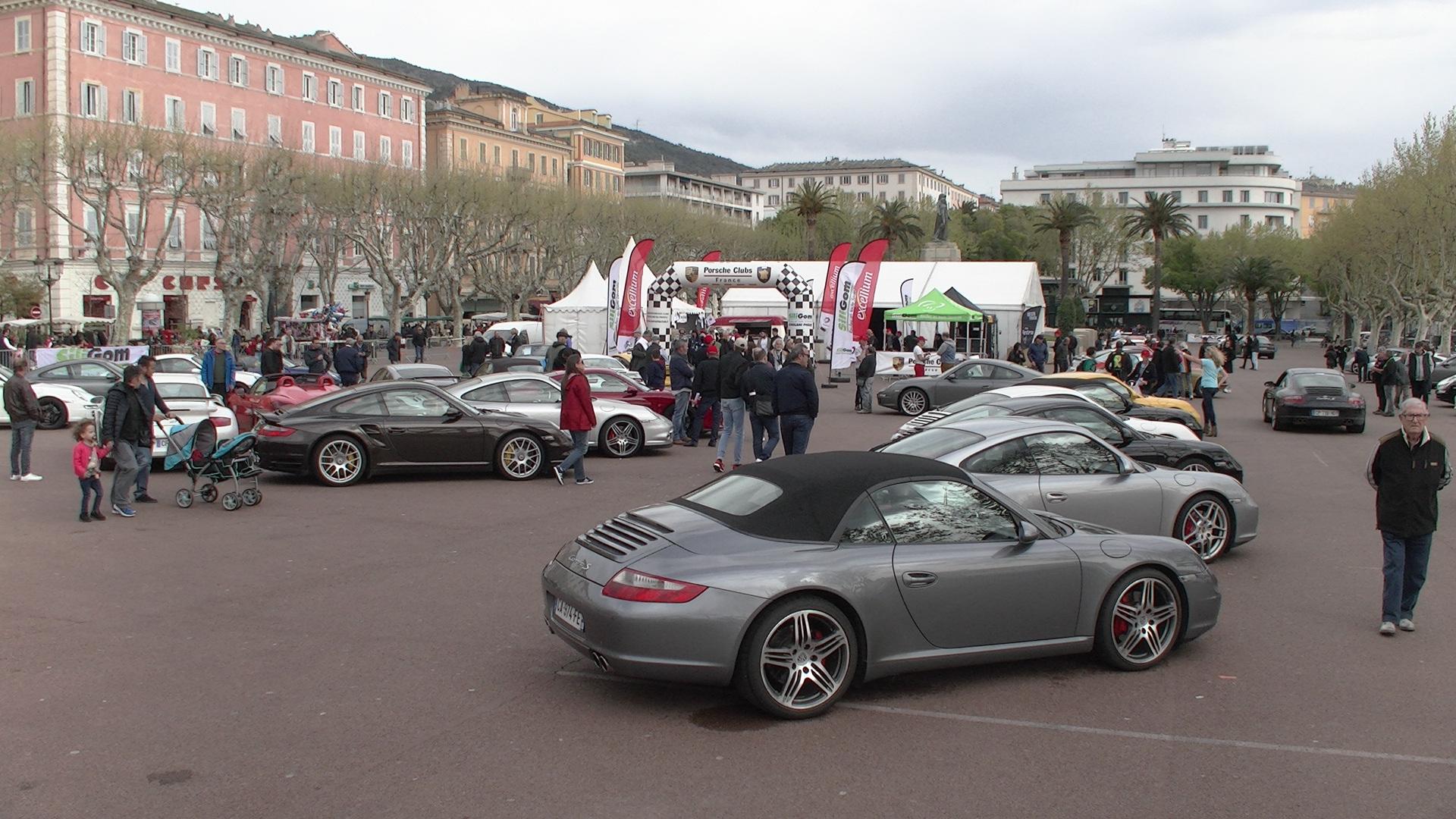 Bastia : Les Porsche brillent au soleil