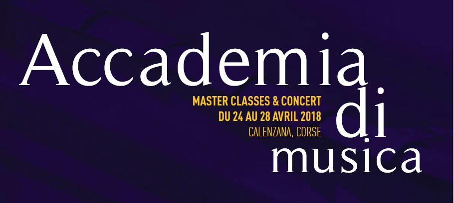 Les Rencontres de Calenzana organise la première Accademia di musica