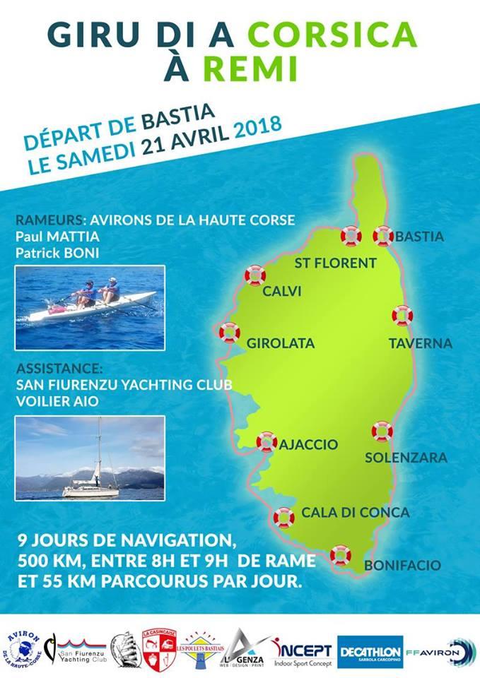 Club d'aviron de la Haute-Corse : Un tour de l'île à la rame