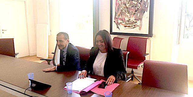 Jean-Guy Talamoni et Vanina Borromei