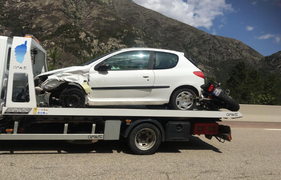 Auto contre motos à proximité de Bocognano : Plusieurs blessés