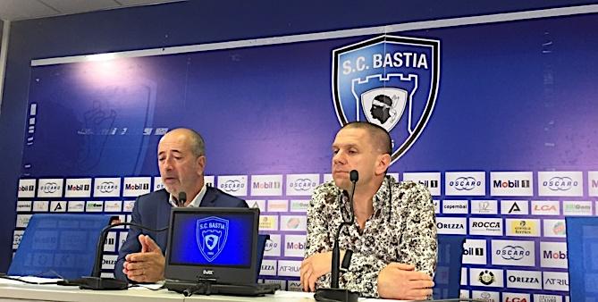 Pierre-Noël Luiggi (à g) et Claude Ferrandi ( à dr) ont annoncé une profonde réorganisation du club