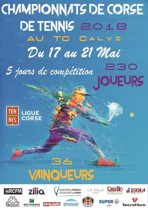 Ouverture demain à Calvi des championnats de Corse de tennis