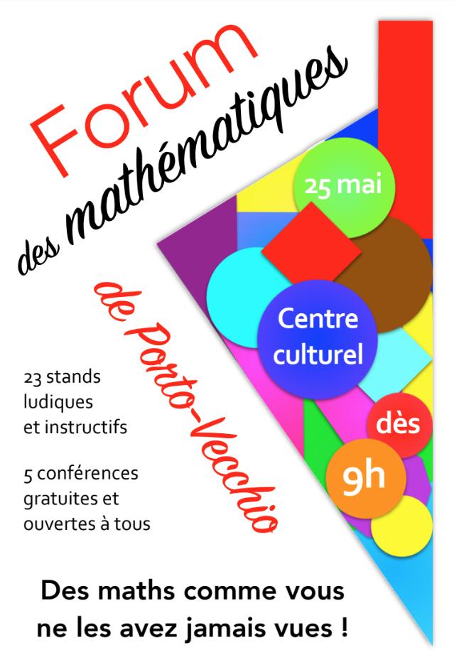 Porto-Vecchio :  950 élèves du CM1 à la terminale participent au 1er Forum des mathématiques