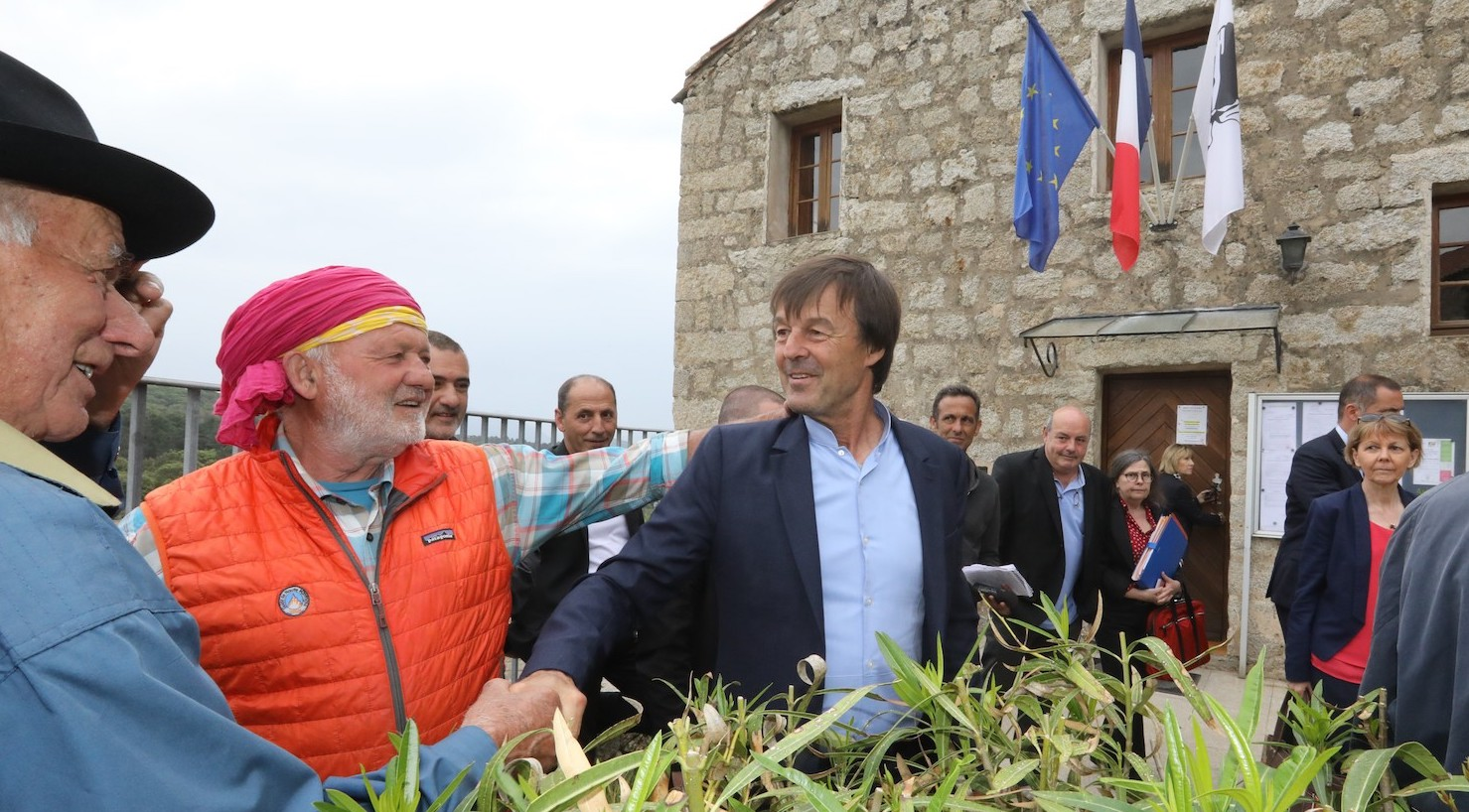 Nicolas Hulot à Quenza Photo MJT