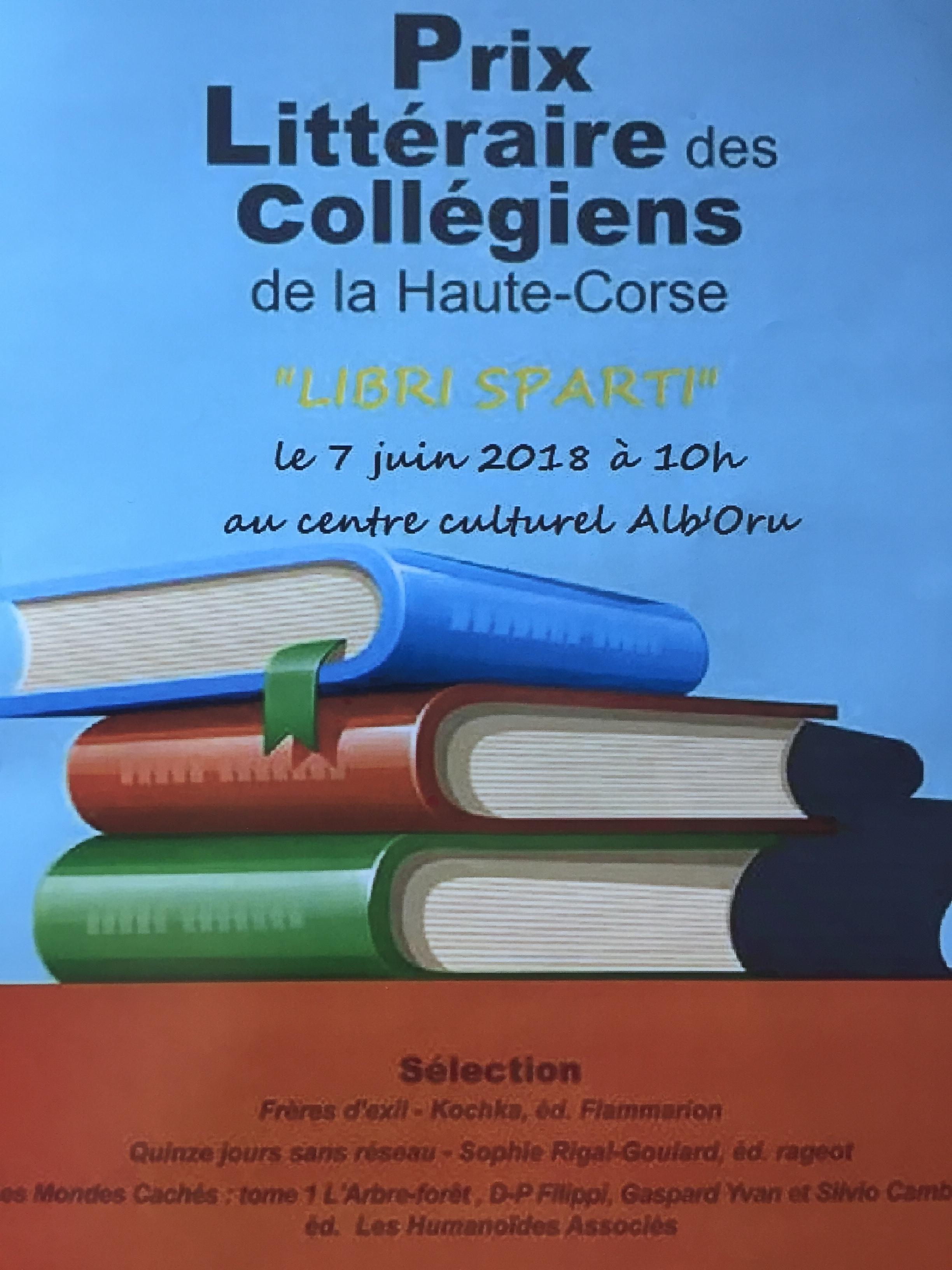 Bastia : Le prix littéraire des collégiens de la Haute-Corse a été décerné à ....