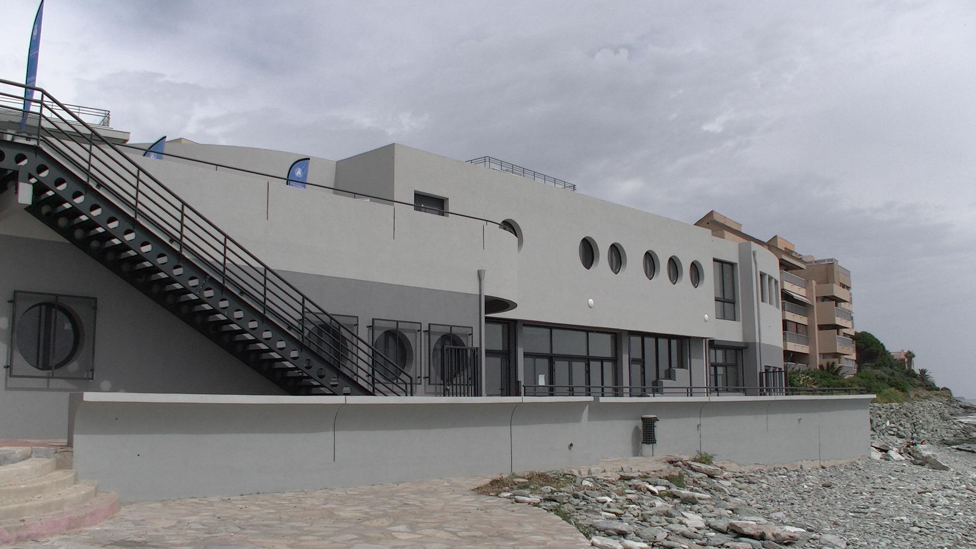 La base nautique d'I Minelli à Ville di Pietrabugno rénovée, restaurée par la CAB