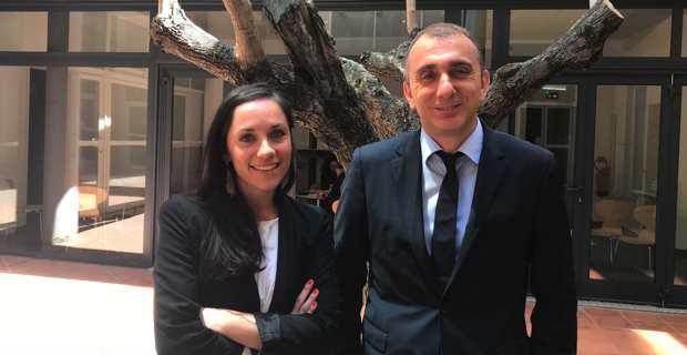 Jean-Christophe Angelini, conseiller exécutif et président de l'ADEC, et Lesia Sargentini, chef de la mission Internationalisation de l'économie.