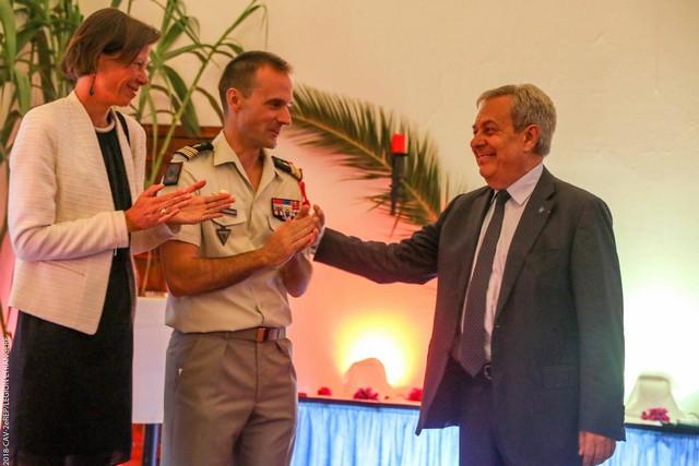 Cocktail de départ du Colonel Jean de Monicault chef de corps du 2e REP  de Calvi