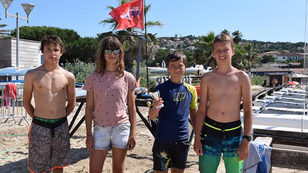 Arrivés premiers : Pierre-Marie Santoni, Sacha Longau, Raphaël Paoli, Côme Joly