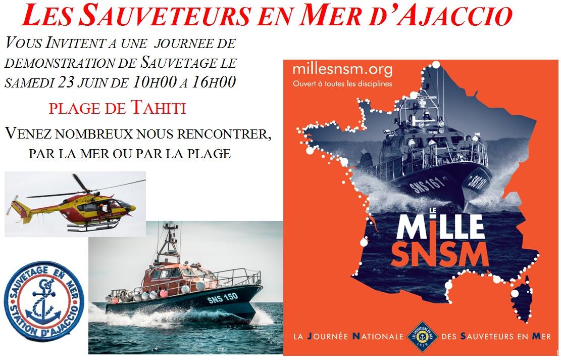 Ajaccio Journée Nationale des Sauveteurs en Mer, Plage du Ricanto