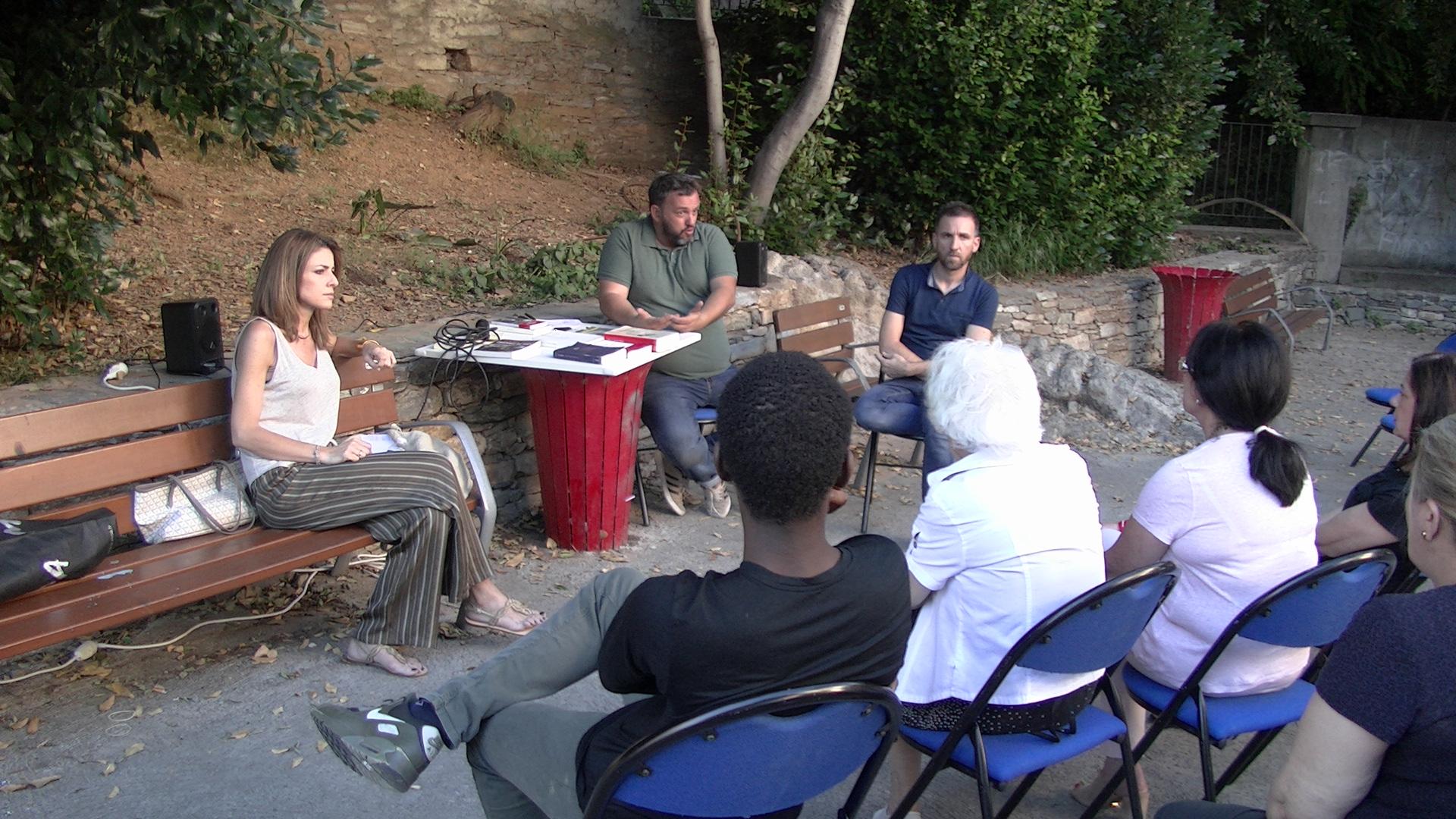 Bénédicte Giusti-Savelli, Sébastien Bonifay et Patrick Vignoli ont présenté l'édition 2018 de Libri Mondi