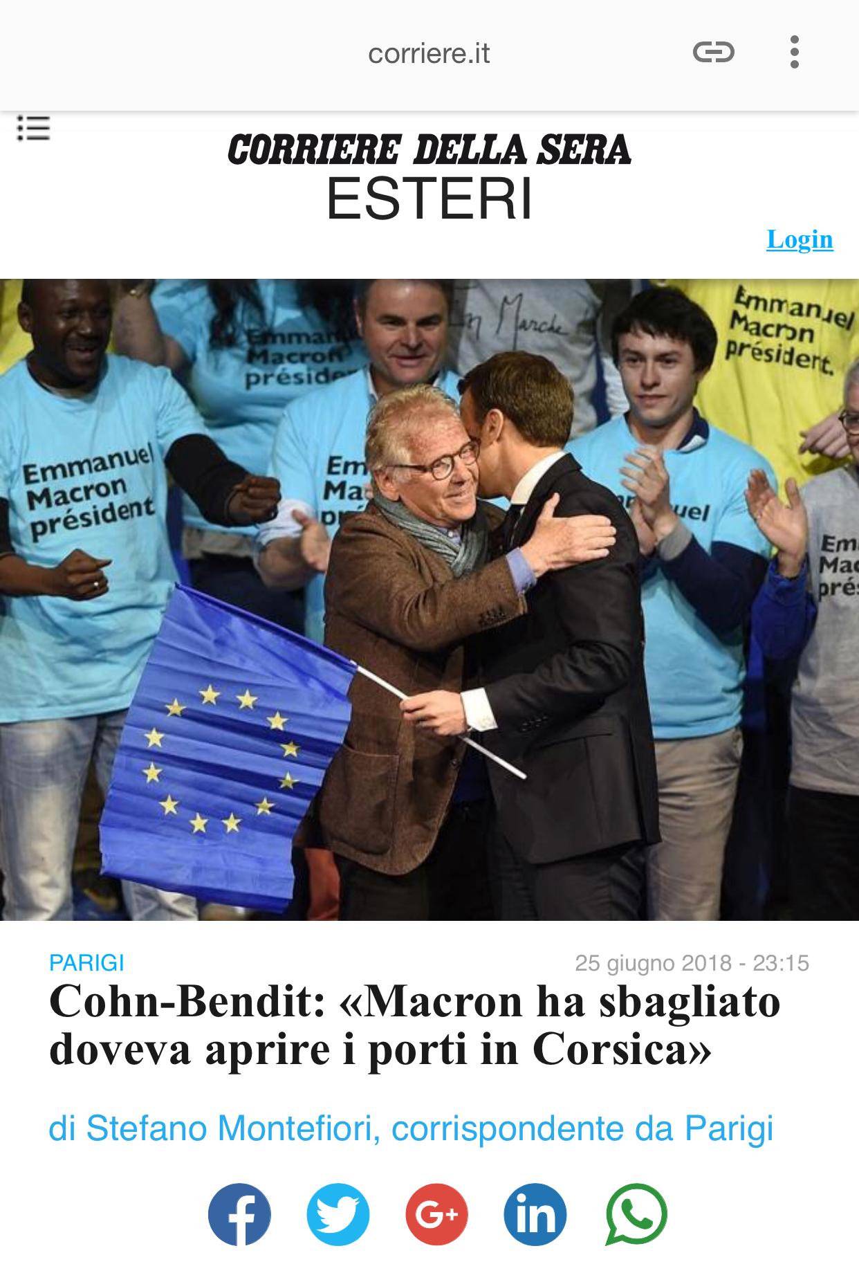 """Daniel Cohn-Bendit : """"Macron a eu tort, il aurait dû ouvrir les ports de Corse"""""""