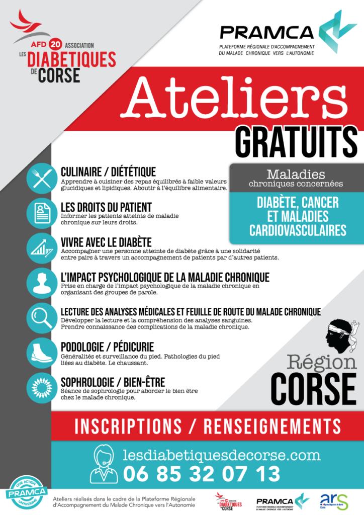 Accompagnement du malade chronique  : Les diabétiques de Corse proposent 7 ateliers