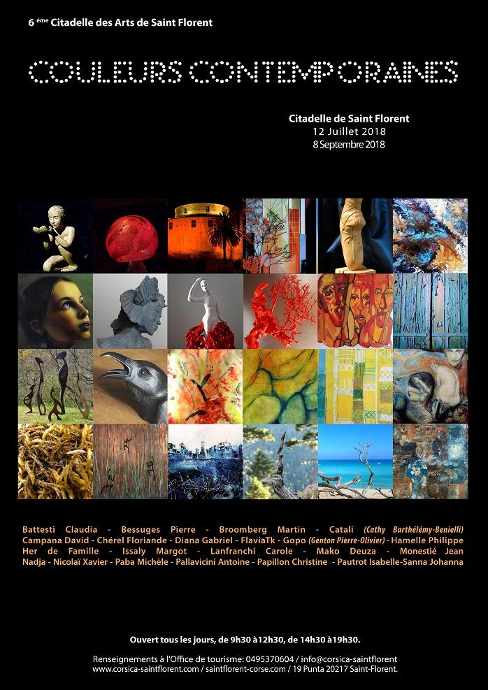Sixième Citadelle des Arts de Saint-Florent sur le thème des couleurs contemporaines