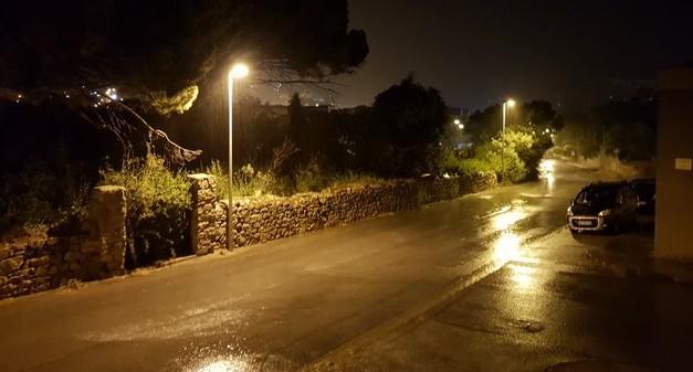Rafales de vent et trombes d'eau sur la Balagne