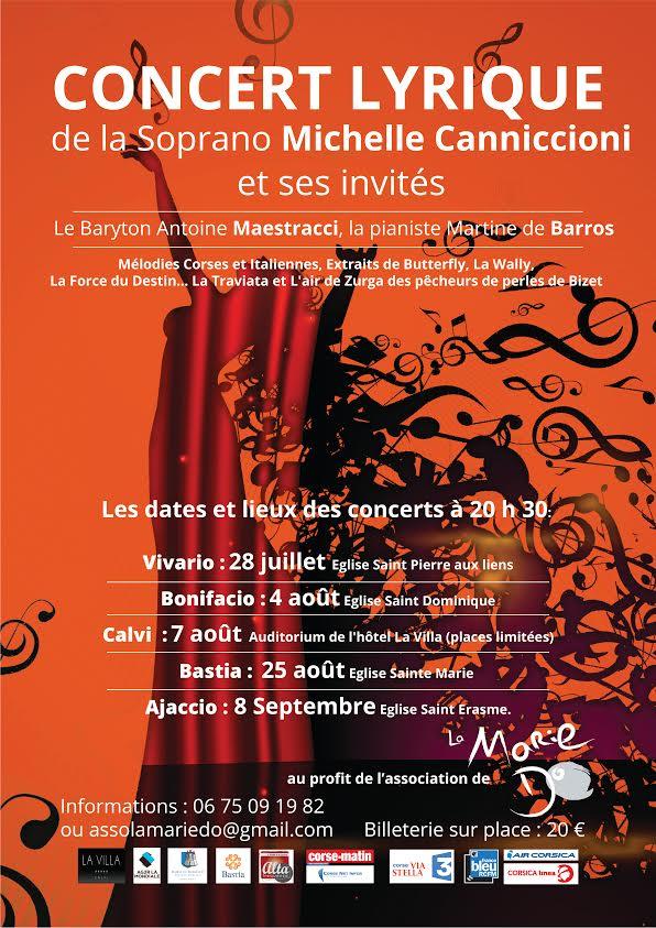 Michelle Canniccionni chante pour La Marie-Do