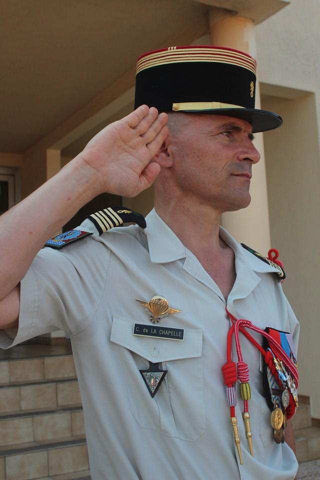 Colonel Christophe De la Chapelle, chef de corps du 2e REP de Calvi