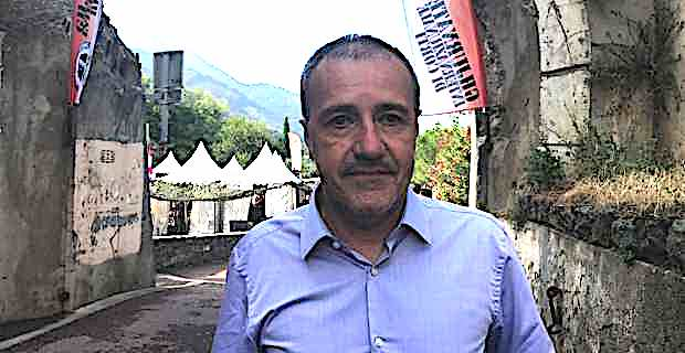 Jean-Guy Talamoni, président de l'Assemblée de Corse, aux Ghjurnate Internaziunale de Corti.