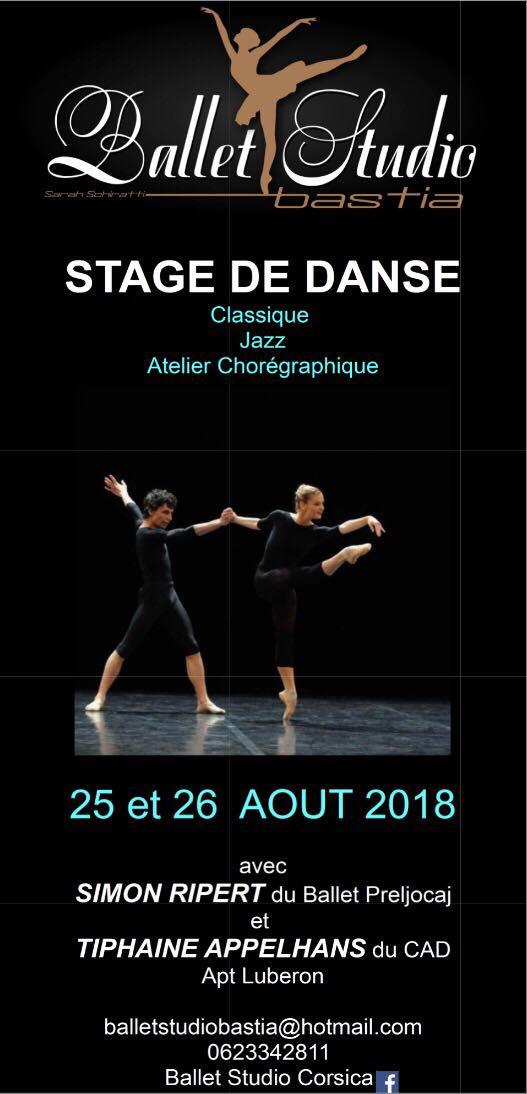 Danse : Stage au Ballet Studio de Furiani en présence de Tiphaine Appelhans et Simon Ripert