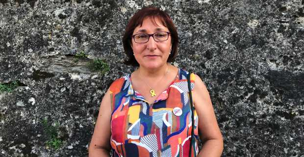 Conxita Bosch, responsable des relations internationales de Solidaritat Catalana per la Independència.