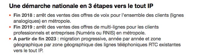 Les trois étapes de la transition téléphonique chez Orange
