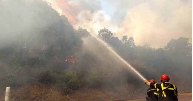 Incendies : 6 000 m2 détruits à Ghisonaccia et mise à feu à Oletta