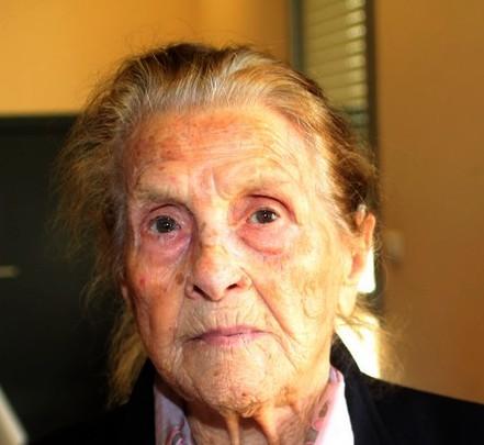 Madeleine Acquaviva devait fêter ses 108 ans jeudi prochain (collection Gilbert Guizol)
