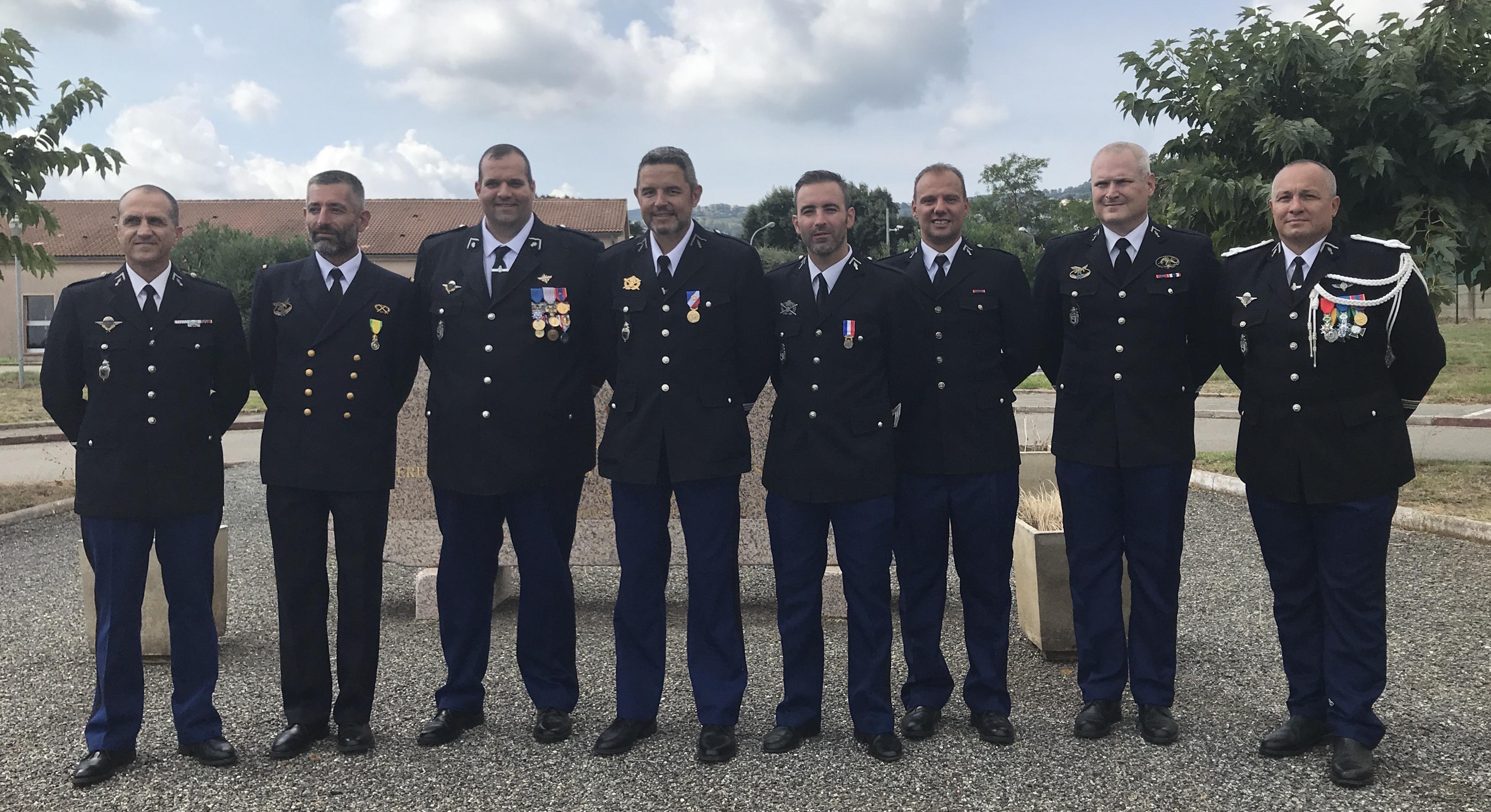 Le colonel Pezza prend le commandement du groupement de gendarmerie de Haute-Corse