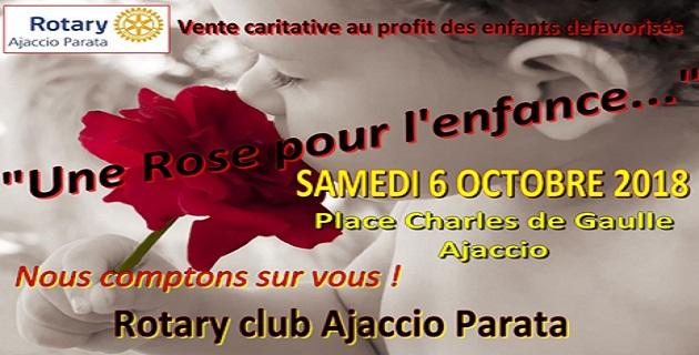 Opération Rotary club Ajaccio Parata: « Une rose pour l'enfance »