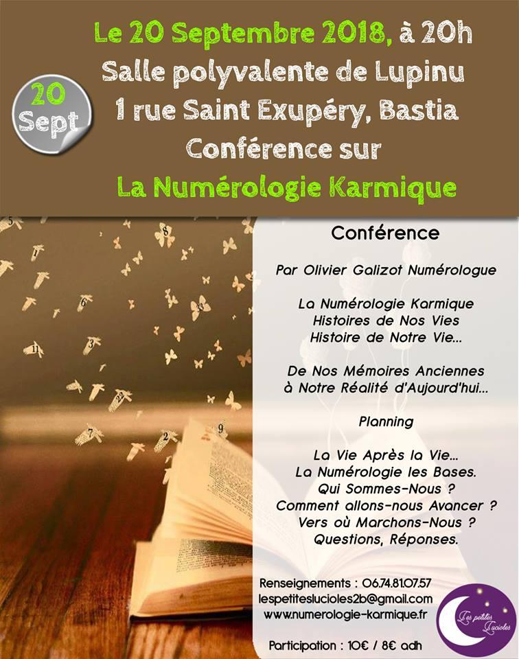 """Bastia : Conférence sur la numérologie karmique avec """"Les petites lucioles"""""""