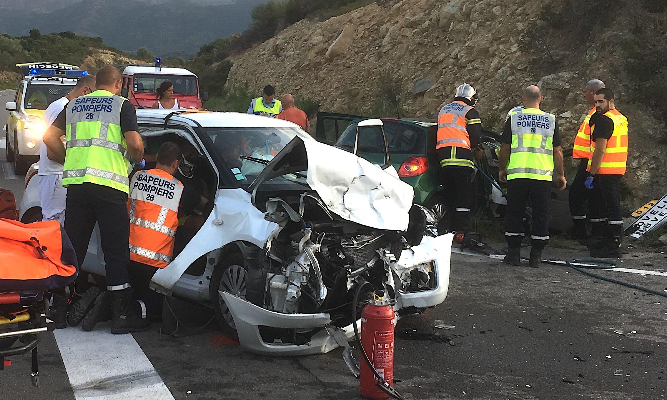 """Collision sur """"A Balanina"""": Trois blessés"""