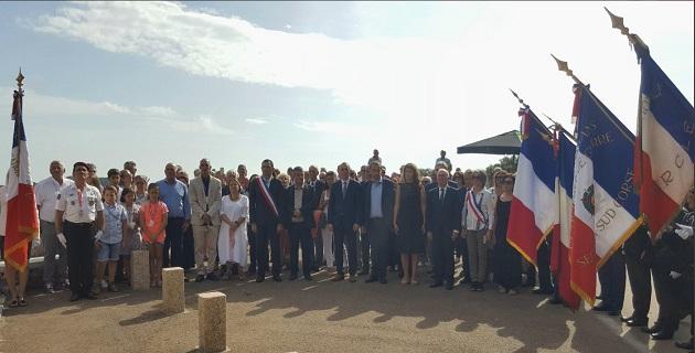 Marlène Schiappa entourée des élus Corses