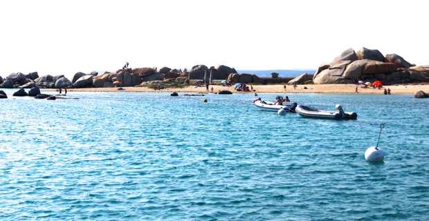 Les îles Lavezzi.