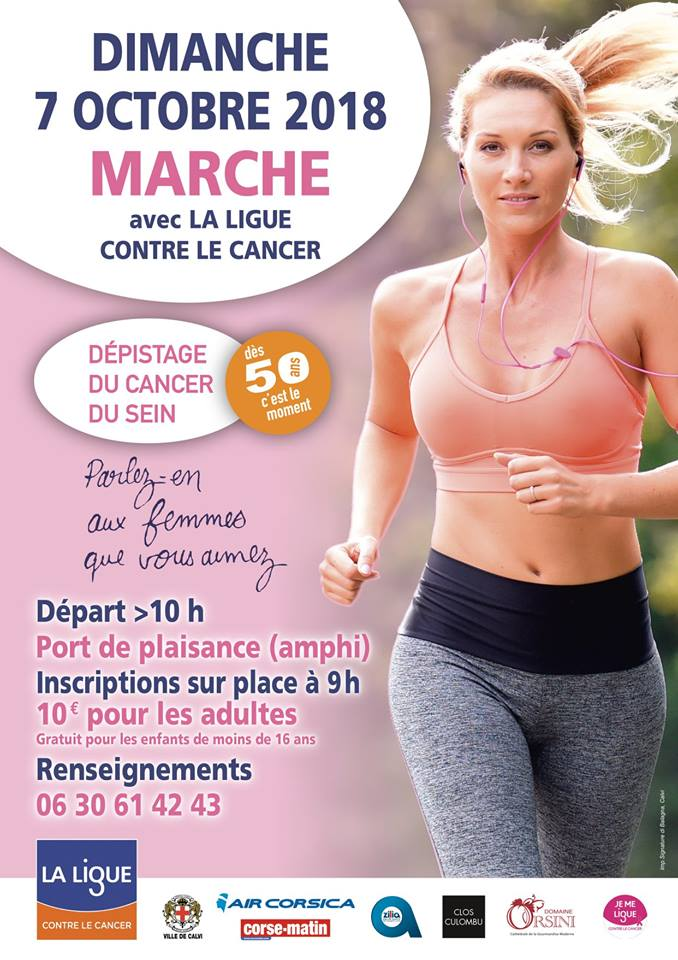 La Marche Rose de la Ligue contre le cancer aura lieu le 7 octobre à Calvi