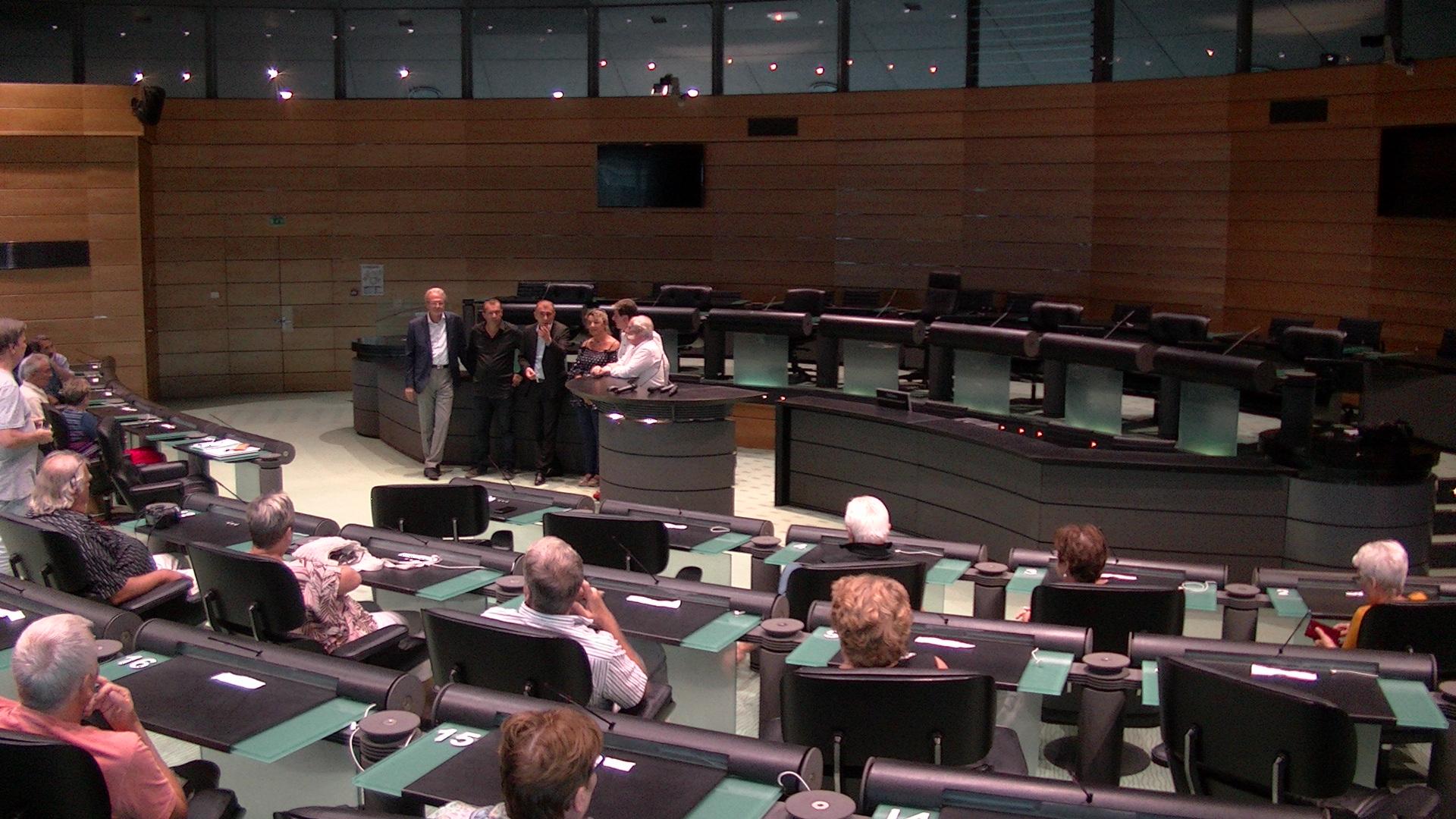 Les élus alsaciens ont été reçus dans les locaux de la CdC à Bastia par Jean-Christophe Angelini, président de l'ADEC