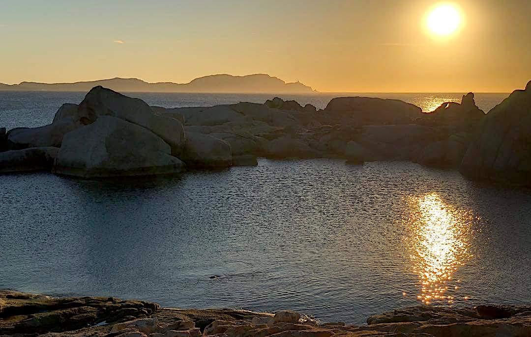 L'image du jour : Quand le Soleil se couche sur a Punta di Spanu