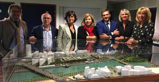 Les élus du groupe Per l'Avvene : Francis Guidici, Christelle Combette, Marie-Thérèse Mariotti, Jean-Martin Mondoloni et Chantal Pedinielli.
